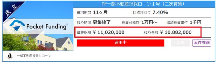 Pocket Funding(ポケットファンディング)投資完了04