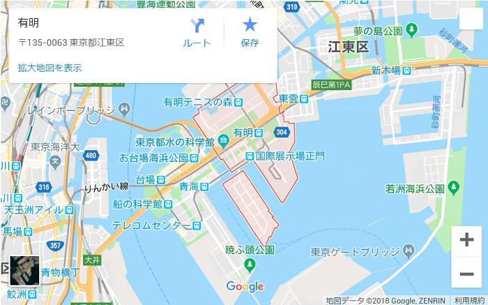 オーナーズブック(OwnersBook)の、「江東区マンション第2号ファンド第1回」案件に記載されている、地図画像