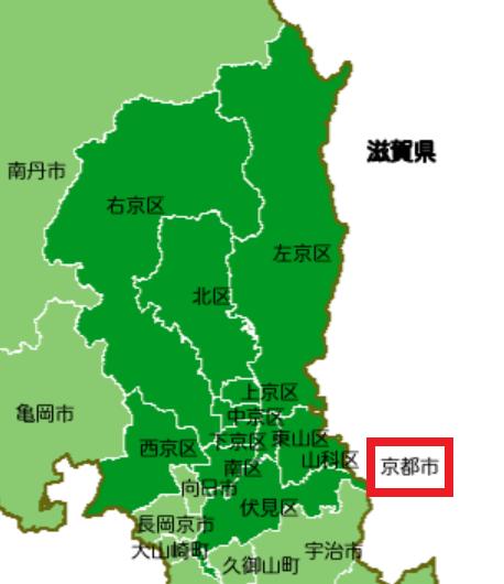 maneoのソーシャルレンディングファンドを検証すべく、京都市の土地値を確認する。