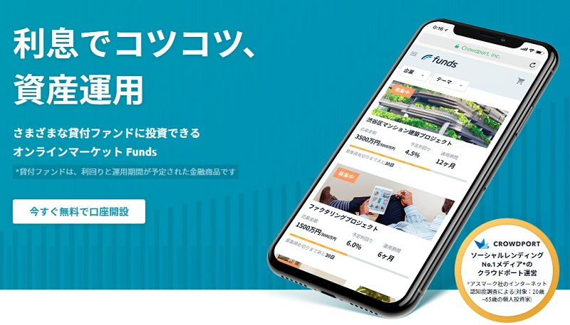 Funds(ファンズ)のトップページ