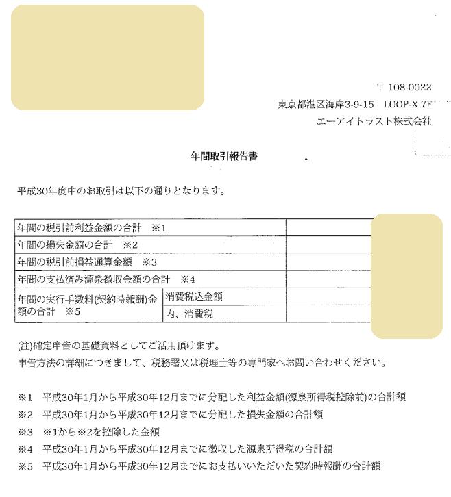 ソーシャルレンディング確定申告に必要な年間取引報告書の取得方法(トラストレンディング)