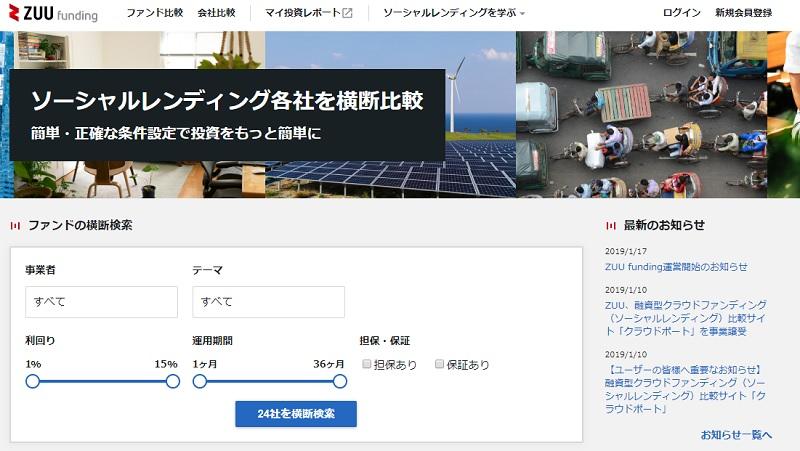 zuuの運営するソーシャルレンディング比較サイト「ZUU funding」とは01