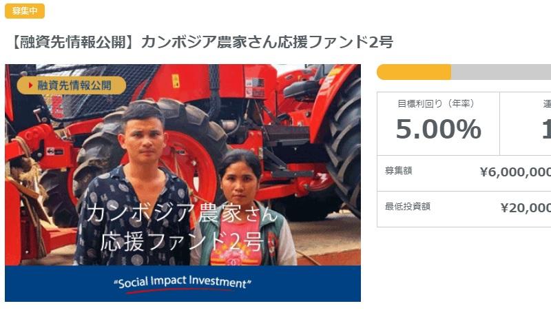ネクストシフトファンドが新案件「カンボジア農家さん応援ファンド2号」を公開