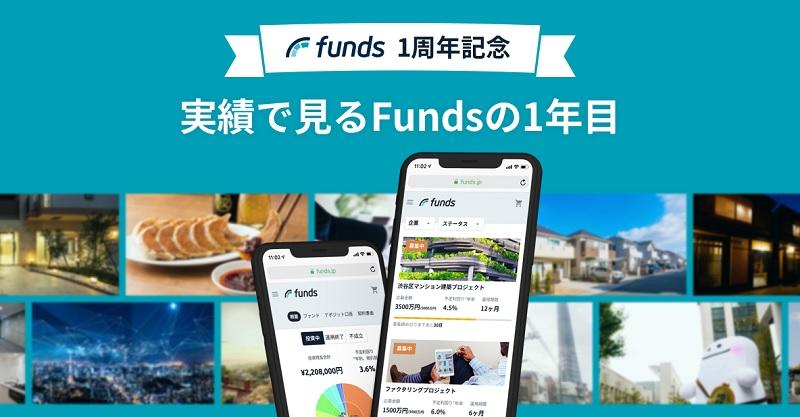 """Funds(ファンズ)が1周年。投資家数は1万名を突破 運営会社は社名を""""ファンズ株式会社""""に商号変更"""